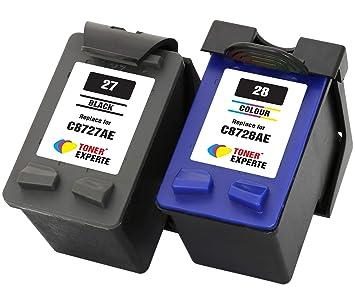 TONER EXPERTE® Reemplazo para HP 27 28 2 Cartuchos de Tinta ...