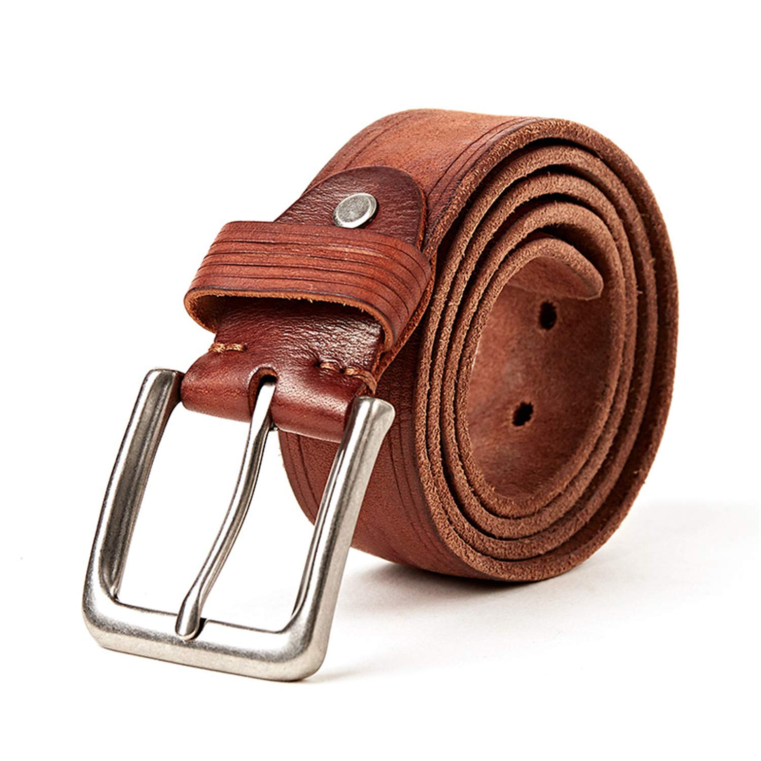 100/% Leather Belt Jeans Men Belt Good Quality Male Strap Wedding Groomsmen Gift Can Be Used for 10 Years