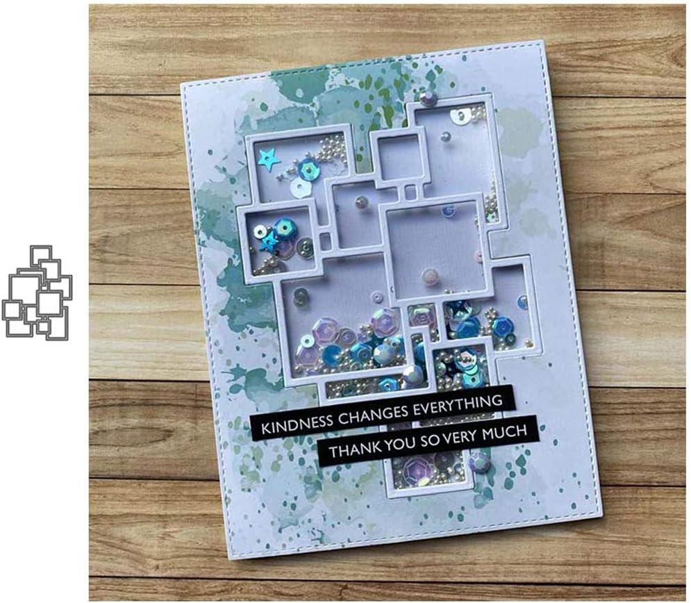 T-HOT Multiple squares Metal Cutting Dies DIY Scrapbooking Paper Stamping Die Decor