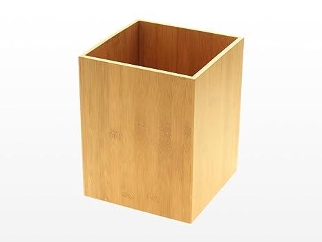 Accessori Bagno In Legno Massello : Cestino da bagno in bambù accessori bagno pattumiera in legno