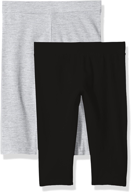 Clementine Apparel Girls Athletic Sport Capri Leggings Assorted Colors 2 Pack