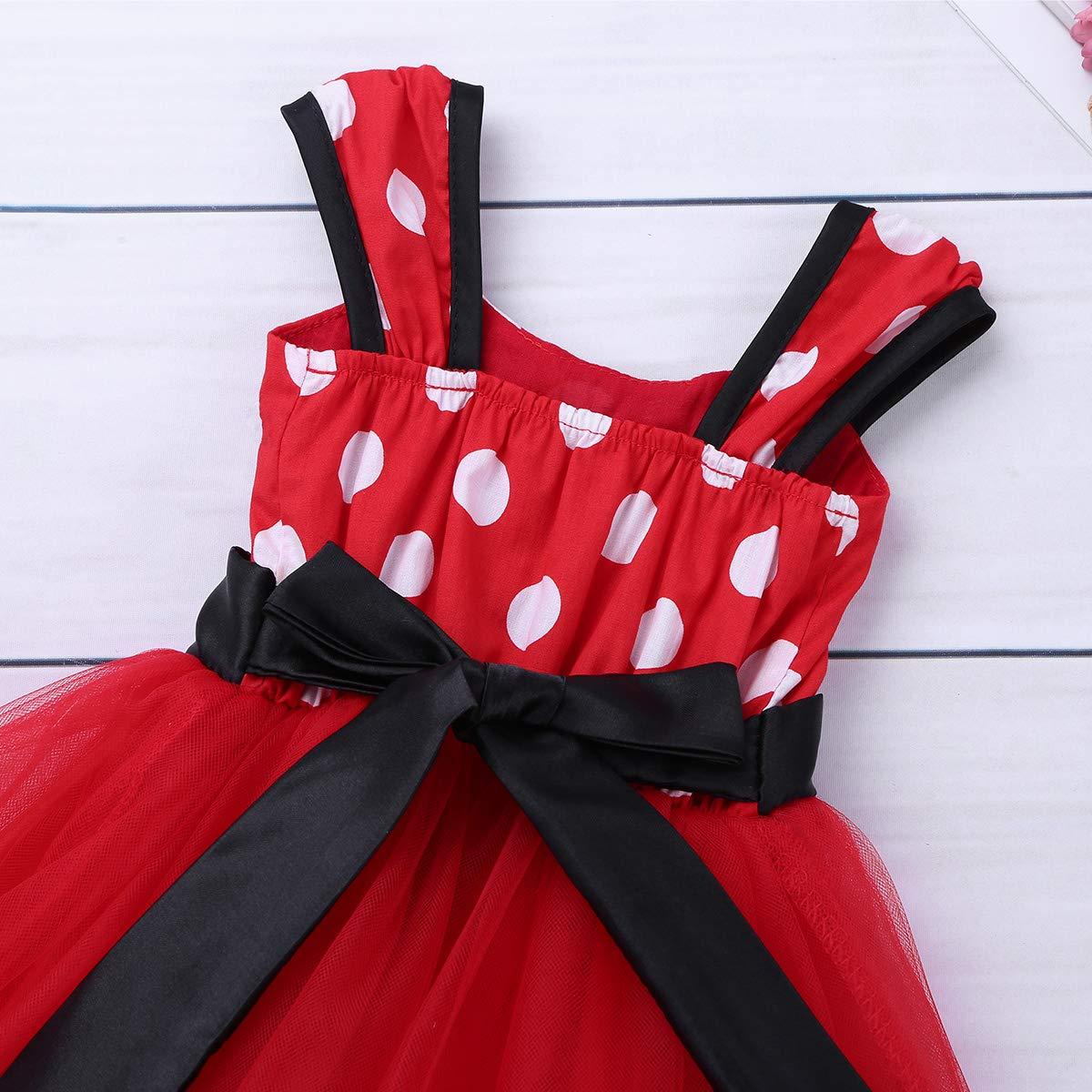Agoky Baby M/ädchen Kost/üm mit Haarreif Prinzessin Kleid Maus Ohren Polka Dots Verkleidung Outfits Party Festzug Weinachten Karneval Fasching Geburtstag