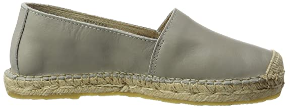 SELECTED New EU Leather Sfmarley Grey Gris Espadrilles 38 FEMME R1Rqrv4