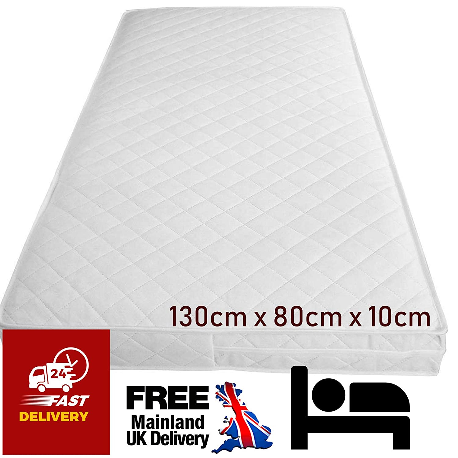 pretty nice 3454e 0acd1 130cm X 80 X 10cm Cot Bed Mattress for IKEA Bed Extendable Baby Junior  Toddler