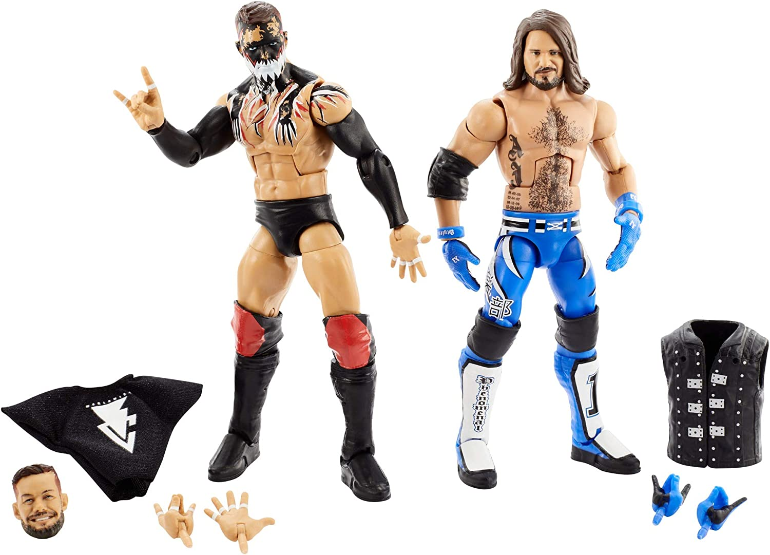 WWE Elite Collection Pack with Finn Bálor & AJ Styles Action Figures