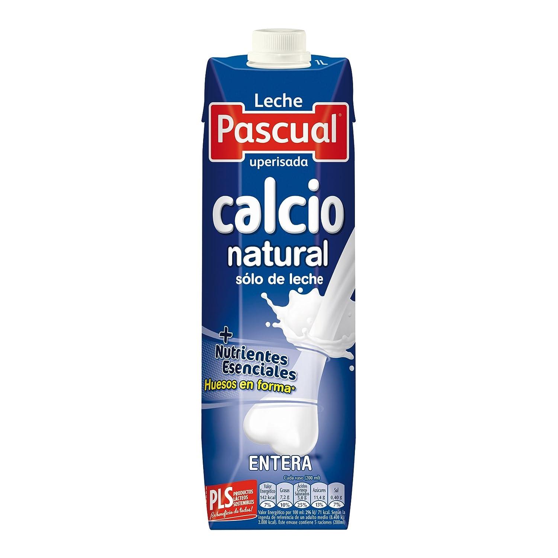 Pascual Leche Calcio Entera - Paquete de 6 x 1000 ml - Total: 6000 ml: Amazon.es: Amazon Pantry
