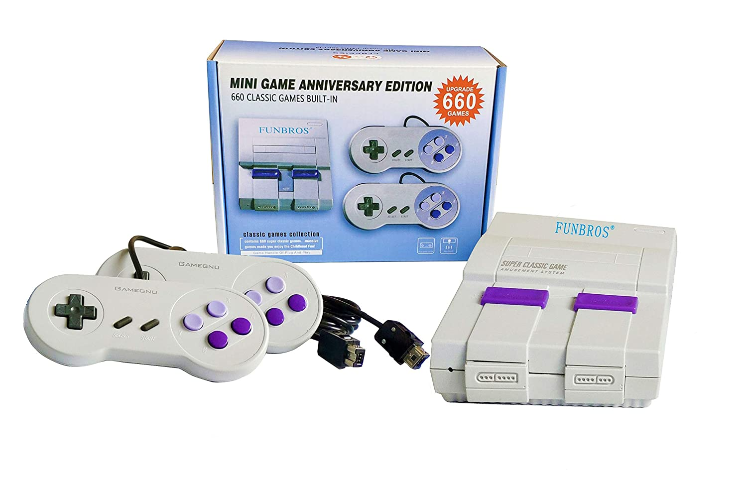 Mini Retro Game Consoles Built-in 660 Games Video Games, Bring You Happy Childhood Memories(AV Out ): Video Games