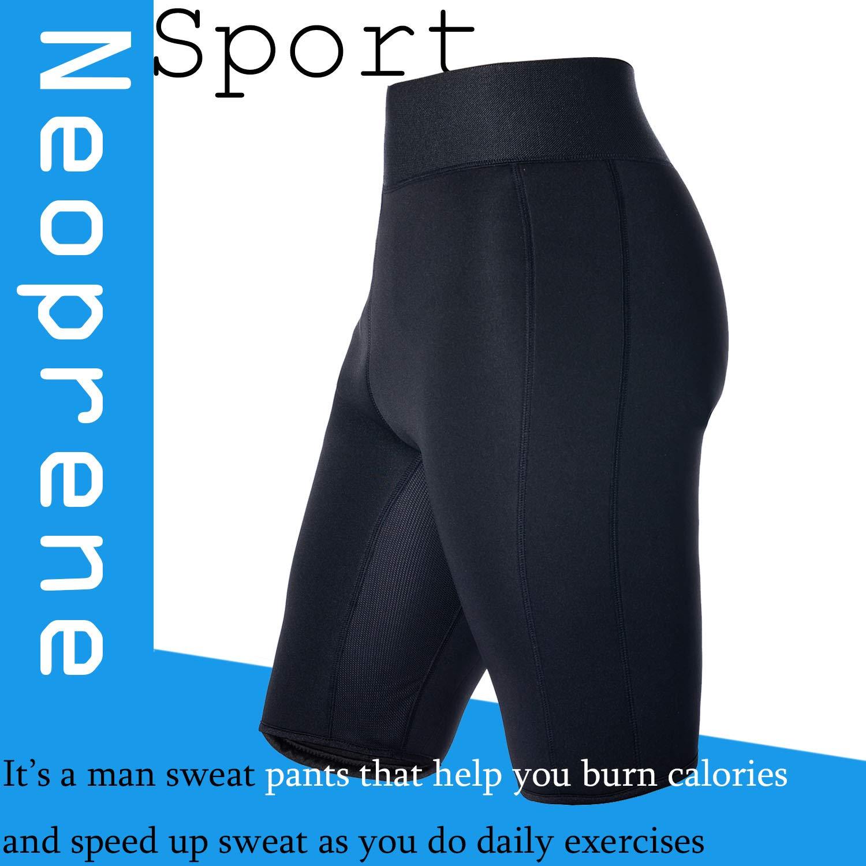 6d1259a86a Amazon.com   Optlove Men Sauna Shorts Weight Loss Sauna Sweat Workout Pants  Hot Neoprene Athletic Gym Legging Fat Burner Slimming   Sports   Outdoors