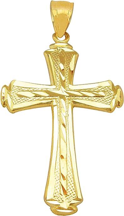 10K Yellow Gold Cross Pendant
