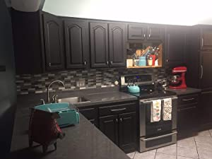 Premium Peel and Stick Grey Soapstone Countertop NOT Paint When You can Peel and Stick 3' W x 9' L Not Your Grandma's Contact Paper Changes Counter Top Instantly