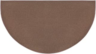 "product image for Plow & Hearth Flame-Resistant Fiberglass Half-Round Hearth Fireplace Area Rug, 27"" x 48"""