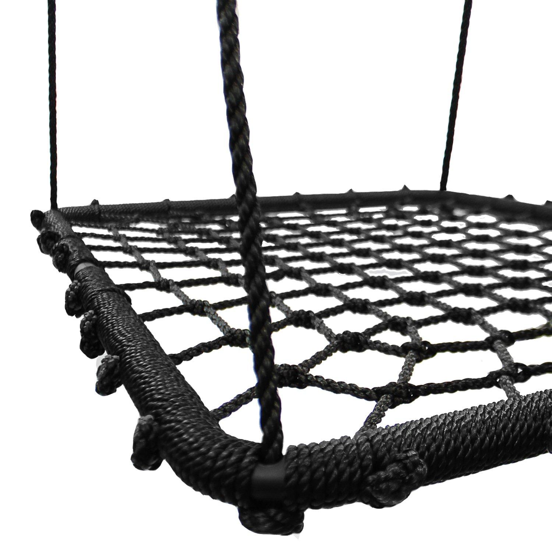 102 x 76 cm Negro Conjunto Kit de Columpio Accesorio para /Áreas de Juego Jard/ín y Exterior KHOMO GEAR Columpio Rectangular XL