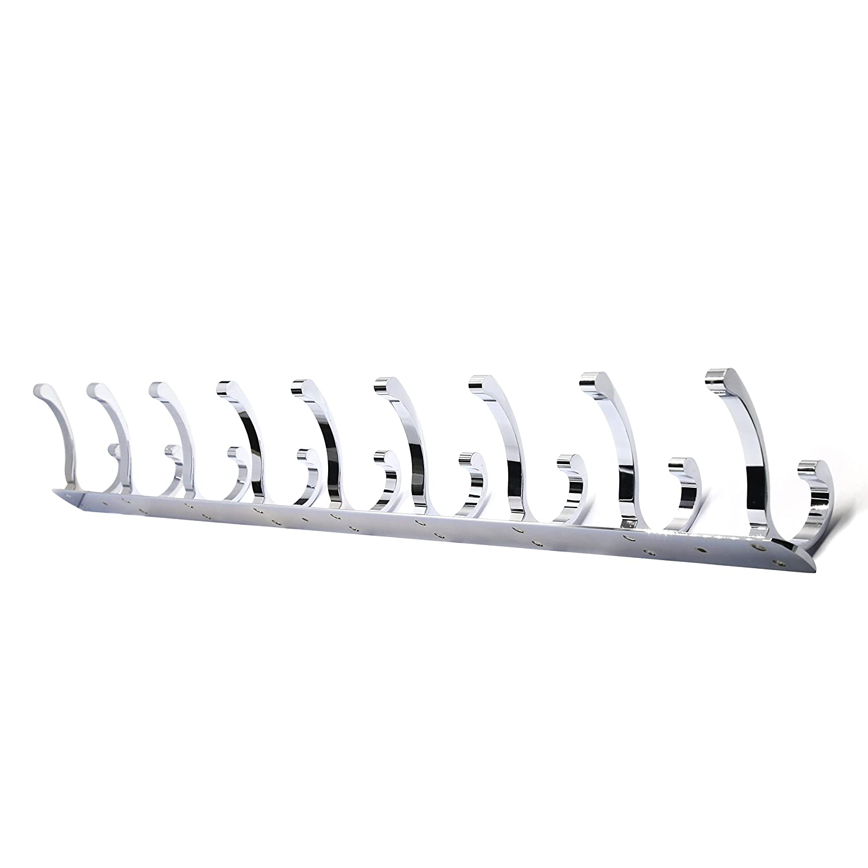 Wall Mounted Closet Garment Garage Organizer Office Storage Accessories Aluminum//Antique Brass CYUQG3-2 WEBI 2 Set 3-peg Sturdy Coat Hat Rack Bath Kitchen Towel Hook Holder