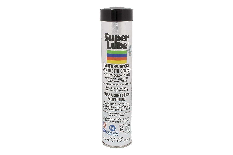 Super Lube 21036 Synthetic Grease (NLGI 2), 3 oz Cartridge, Translucent White