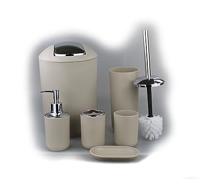 Set di 6x accessori da bagno, con dispenser di sapone, portasapone ...