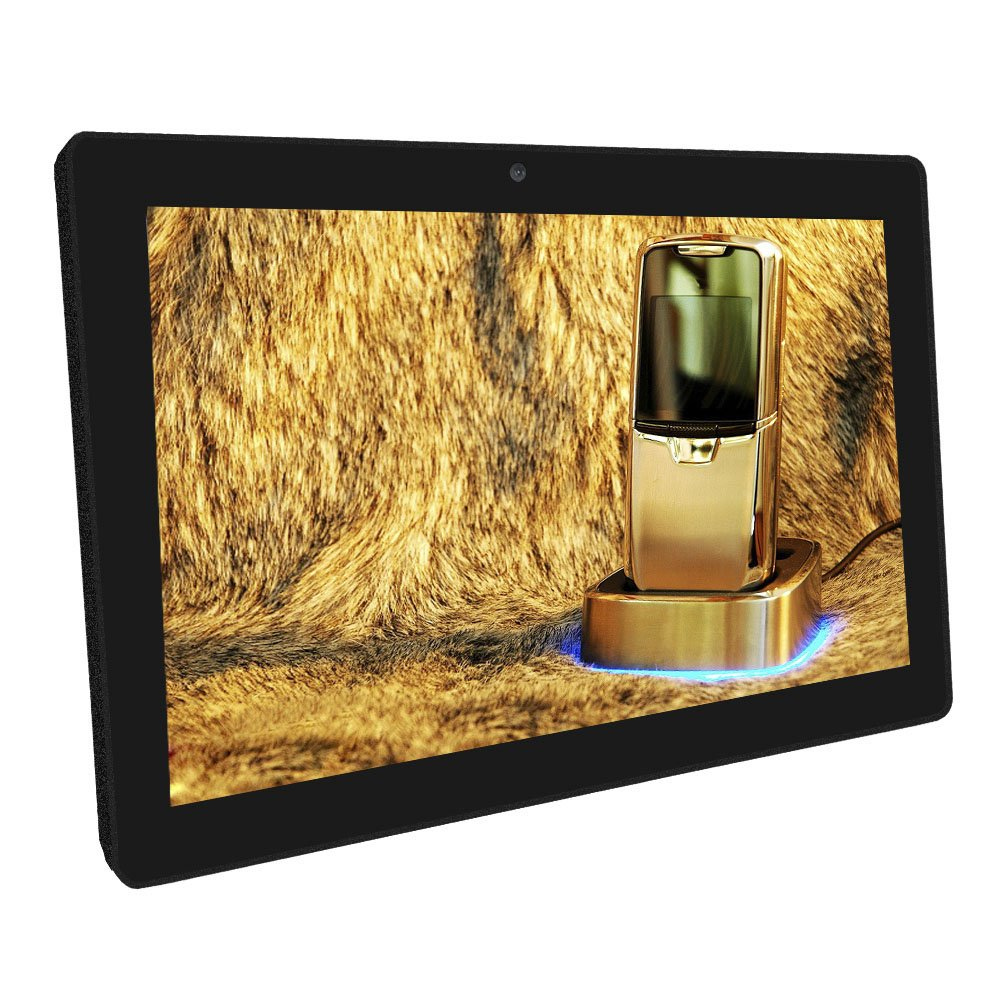 15.6'' HD LCD Screen Advertising Media Video Player - [Strong Metal Frame] - Compatible with SD card or USB 2.0 - Remote control Included