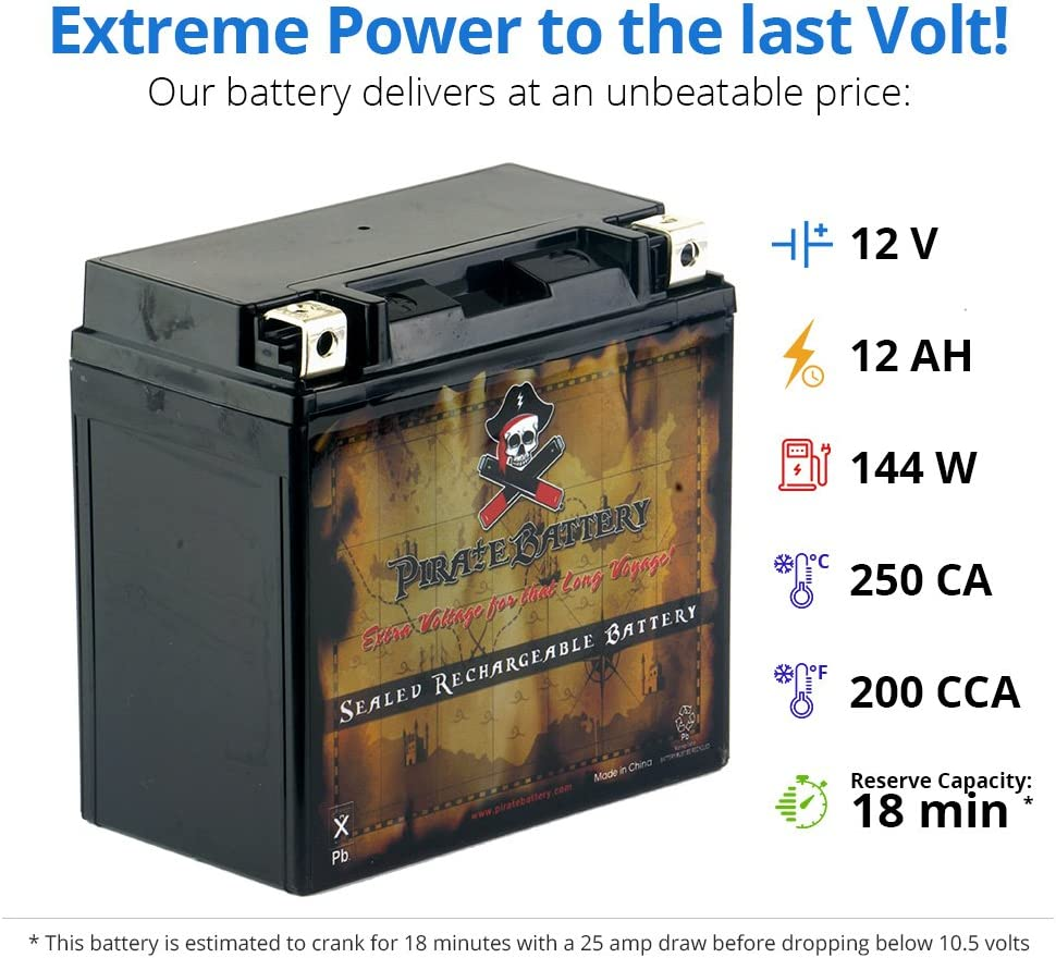 Maintenance Free YTX14-BS High Performance Sealed AGM Motorcycle Battery Rechargeable