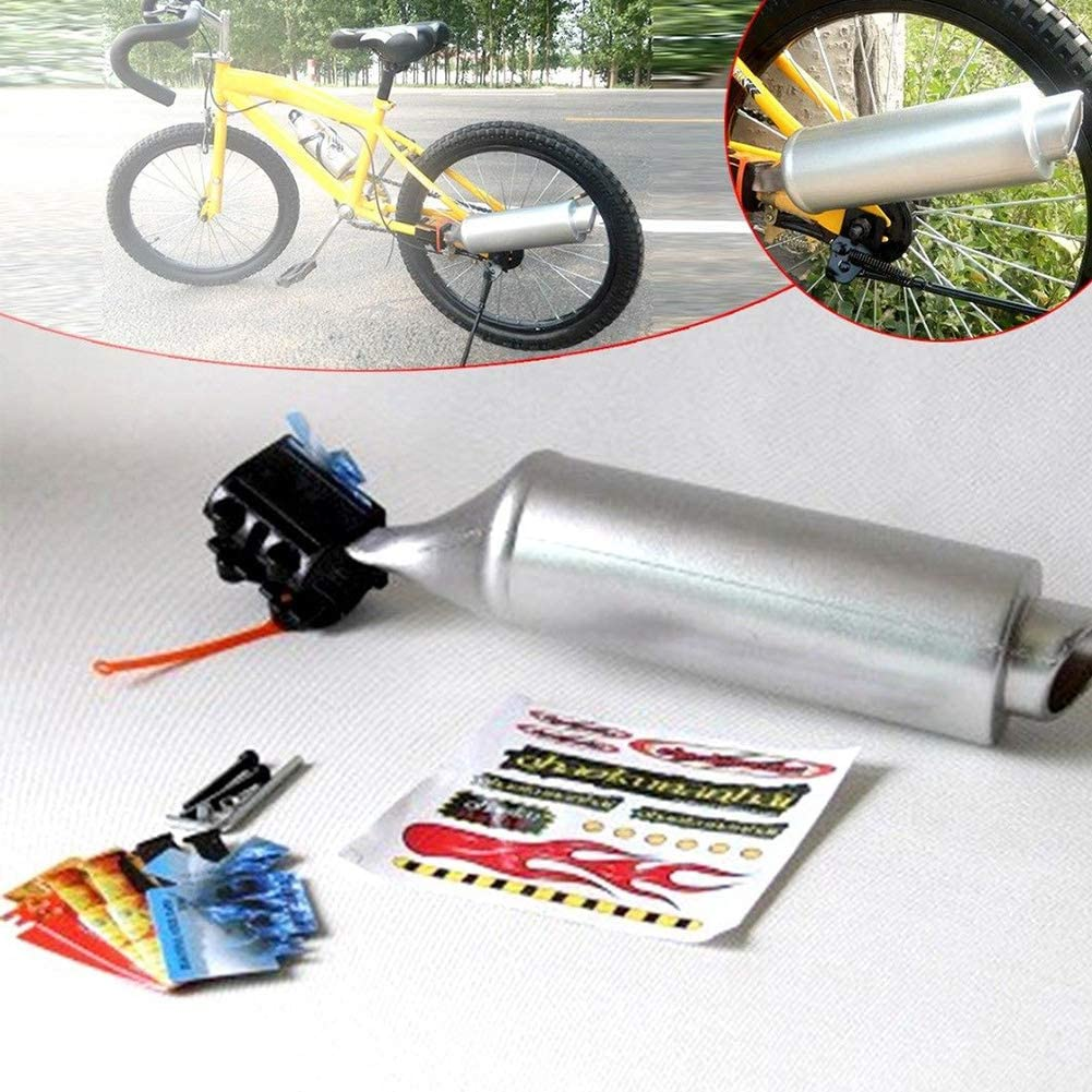 Bicycle Exhaust Sound System,Bicycle Turbo Pipe,Motorcycle Exhaust Pipe with Sound Effect,Noise Maker Cycling Accessories