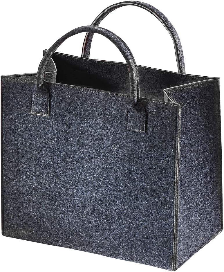 Brandsseller Damen Filz Handtasche Freizeit Shopping Bag ca 36 x 27 x 6 cm