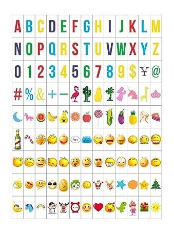 ai-life 252pcs wie im Kino Box farbigen/schwarz Emoji-Buchstaben ...