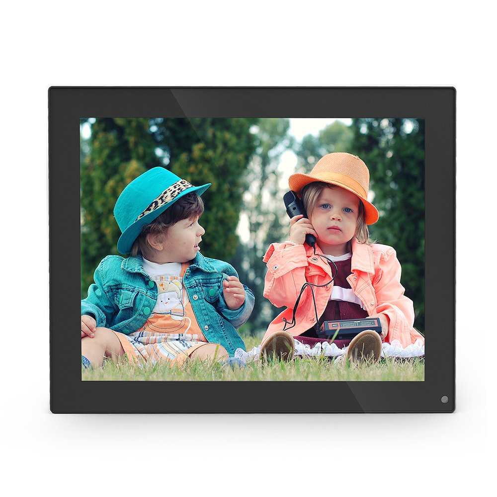 10 Inch Digital Photo Frame, 1024x768 Hi-Res Digital Picture Frame with IPS Panel and Remote Control,Support Picture/Music/Video/Calendar/Clock, 16GB Memory Card Included (Black)