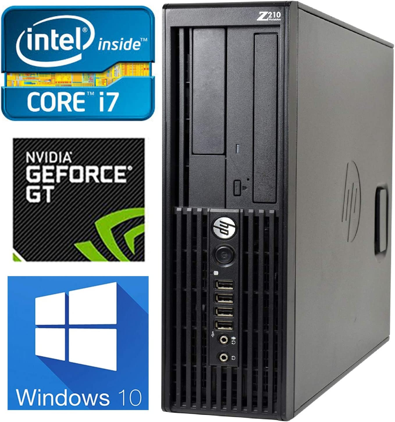 HP i7 Gaming Computer, Quad-Core i7 Upto 3.8GHz, 8GB RAM, 128GB SSD + 1TB HD, 4K Nvidia GeForce GT 730 Graphics Card 4GB(HDMI, DVI, VGA), WiFi & BT, DVD-RW, USB 3.0, Win 10 Pro (Renewed)