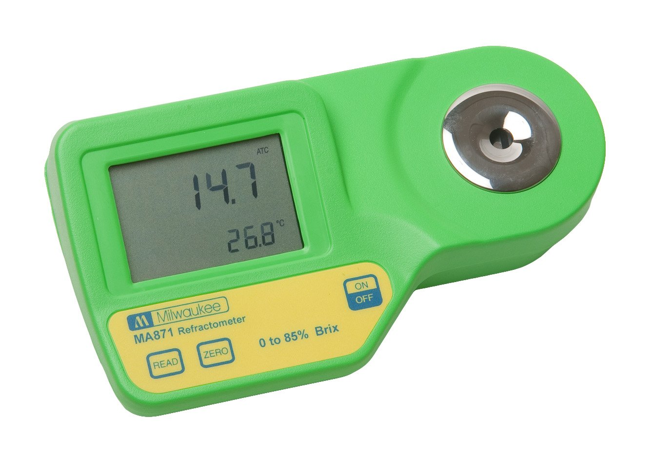 Milwaukee Instruments MA871 Digital Brix Refractometer, Range 0-85% by Milwaukee