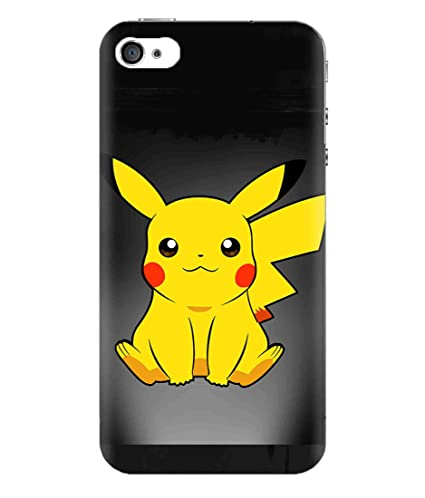 separation shoes 16c03 423b1 Apple iPhone 4S Pokemon Cartoon Charecters Cute Pikachu: Amazon.in ...