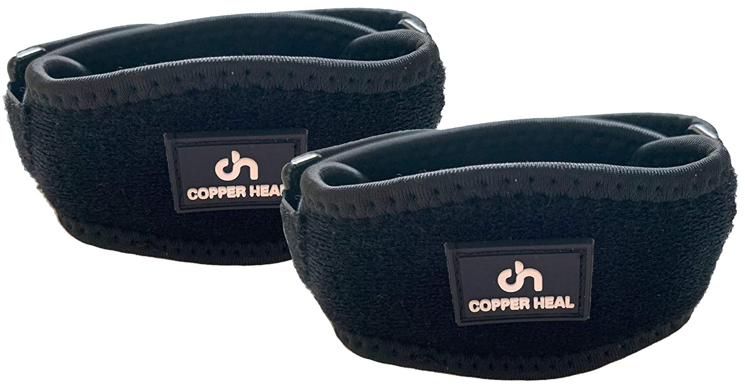 COPPER HEAL Elbow Brace (PAIR) - ADJUSTABLE Support & Medical Recovery from Tennis Elbow or Lateral Epicondylitis arm sleeves men nerve rennis workout pads softball: Industrial & Scientific