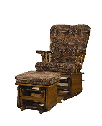 Amazon.com: Brooks Furniture 1462 Oak Post Back/Solid Panel Glider Rocker  With Dartmouth Bark Cushions Glider Only, Legacy Oak Finish: Kitchen U0026  Dining