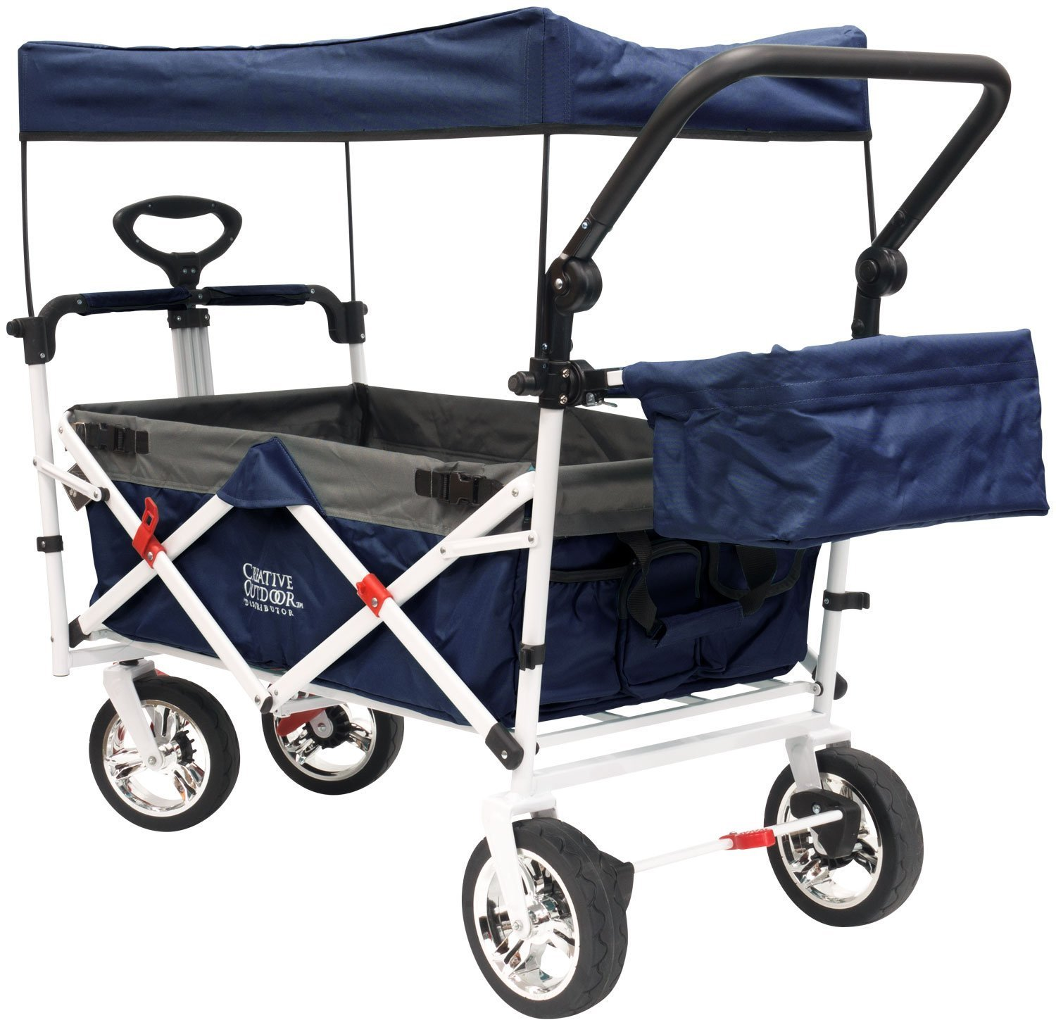 Creative Outdoor Distributor Push Pull Wagon Foldable Sun/Rain Shade (Navy) Creative Outddor Distributor