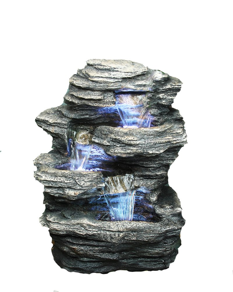 Hi-Line Gift Ltd Rock 4-Level Fountain