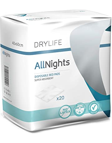 Drylife All Nights Empapadores Desechable para Incontinencia - 40x60cm (4 Paquetes de 20)