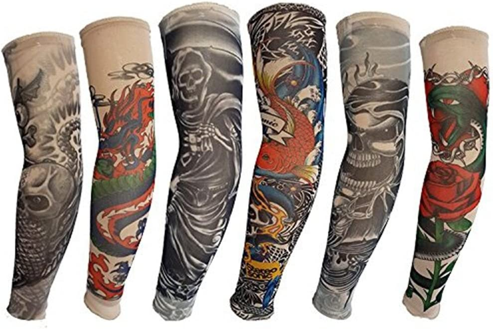 HaimoBurg Juego de 6 Mangas con Apariencia de Tatuaje temporales ...