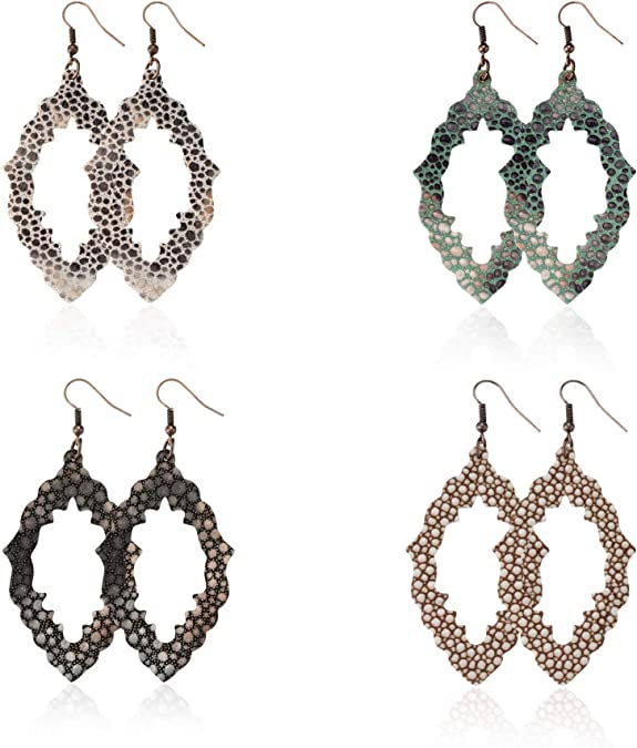 TIDOO Jewelry Womens Smooth Faux Leather Layered Tassel Dangle Earrings for Girl