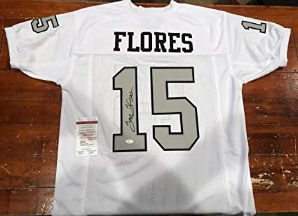 Tom Flores Autographed Signed Custom White Oakland Raiders Throwback Jersey  Witness - JSA Authentic Memorabilia f2034b03f