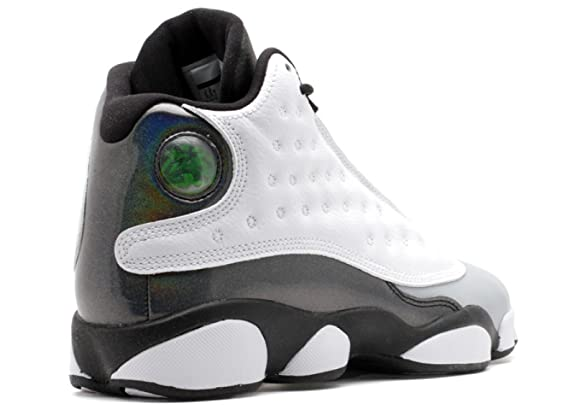 8333fcbd3acf Amazon.com  Jordan Air 13 Retro BG Barons Big Kids Shoes White Tropical Teal -Black-Wolf Grey 414574-115  Shoes