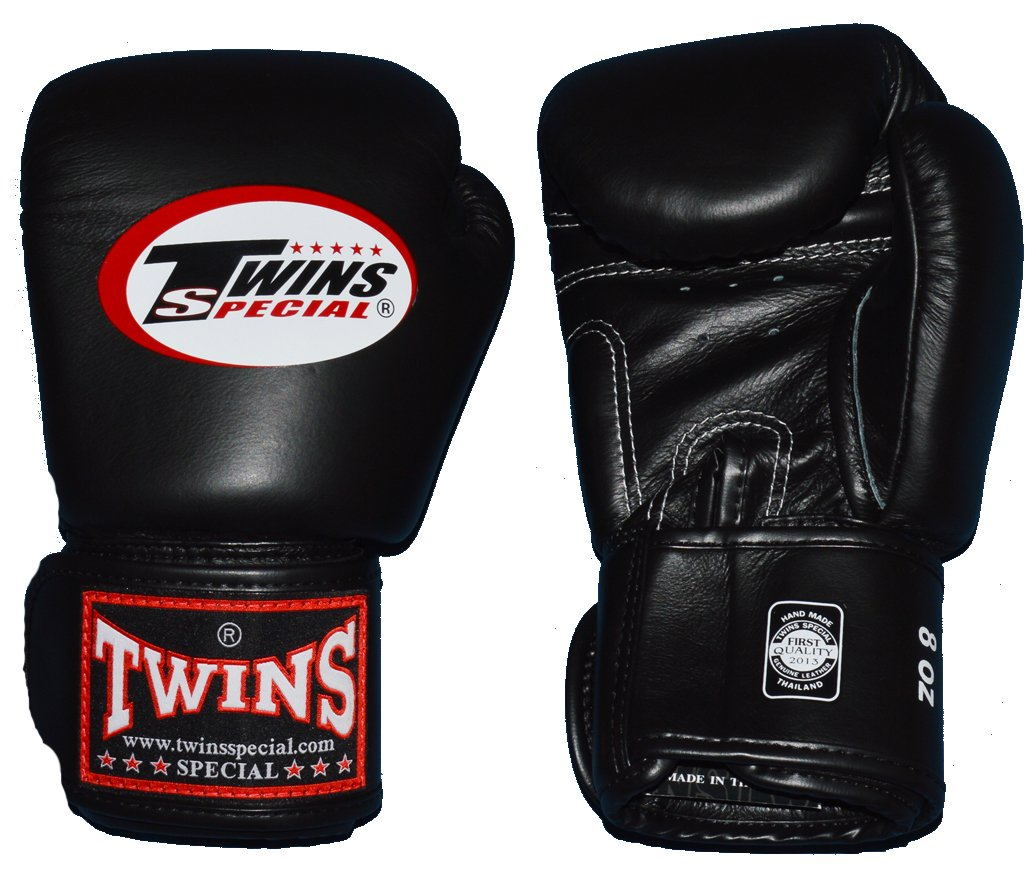 TWINS本革ボクシンググローブ 8オンス 黒