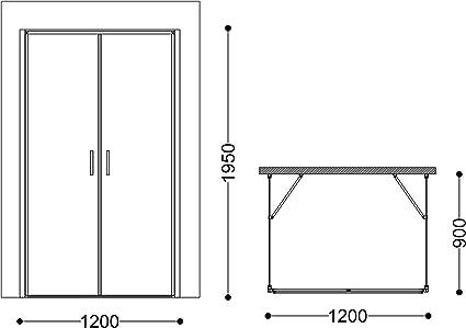 doporro Cabina de ducha Ravenna50K 80x120x80cm mampara de vidrio de seguridad ESG templado transparente de dos puertas giratorias con plato de ducha plano de 4cm en blanco: Amazon.es: Bricolaje y herramientas