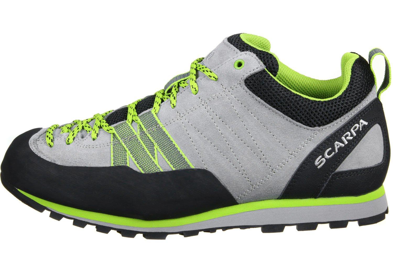 Scarpa Crux Grün-Grau, Damen Hiking- & Approach-Schuh, Größe EU 42 - Farbe Oyster-Green Glow Damen Hiking- & Approach-Schuh, Oyster - Green Glow, Größe 42 - Grün-Grau