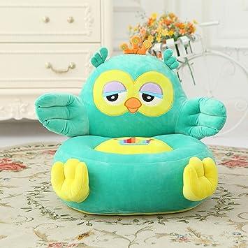 MeMoreCool Well Designed Kids Sofa,Cartoon Blue Owl Children Plush Cartoon  Sofa,Baby