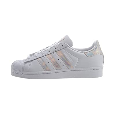 6cb18d804bf2 adidas Originals Kids Girl s Superstar Iridescent J (Big Kid) White  Iridescent 4 M