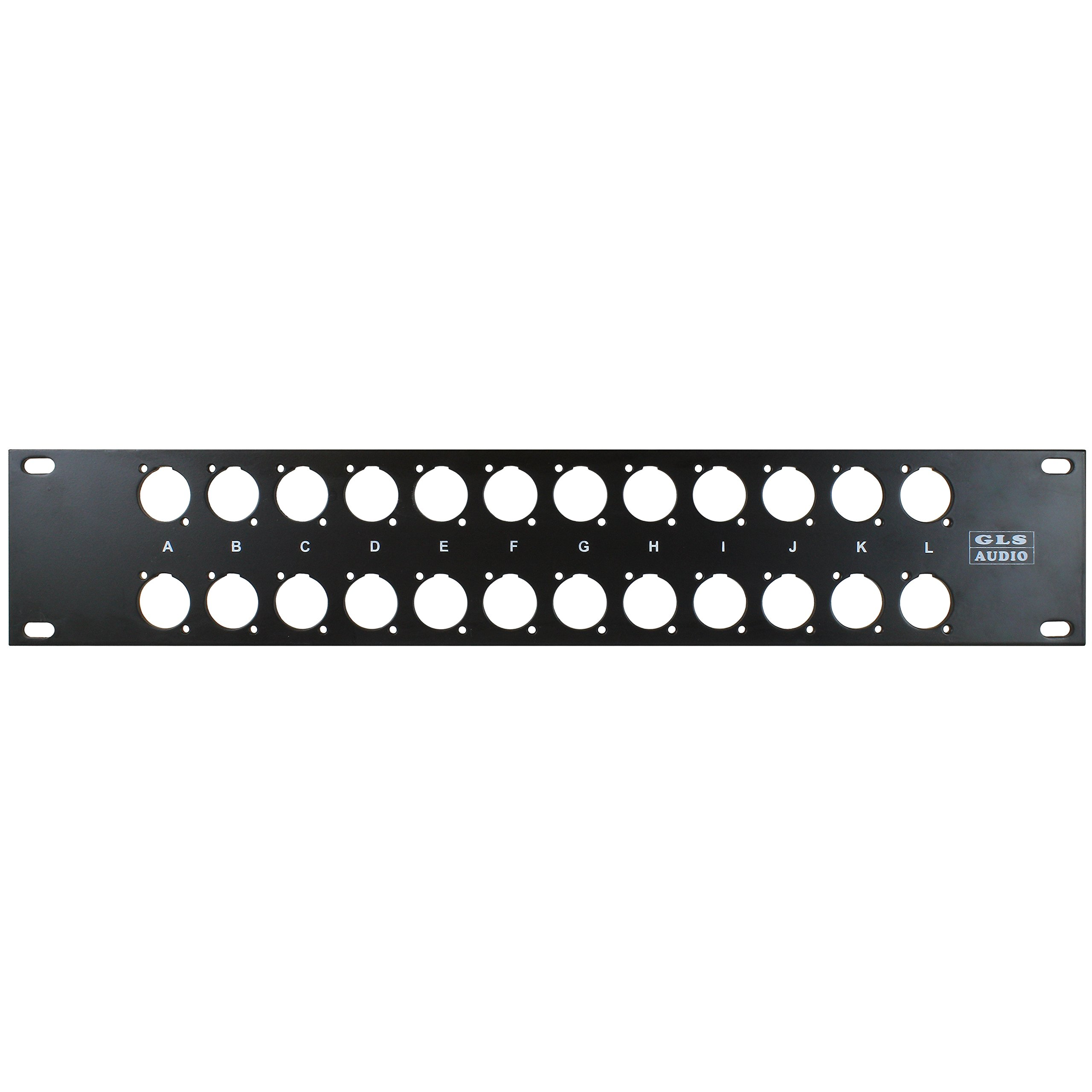 GLS Audio 24 Hole Rack Patch Panel SWP-24XLR-GLS Two Double Space 2U
