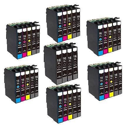 INKMAKE 10PK 16XL - Cartucho de Tinta remanufacturado para Epson ...