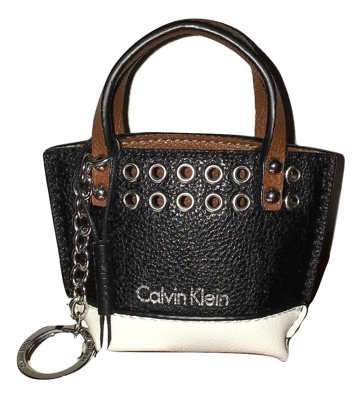 Calvin Klein Black White Tote Keychain Key ring