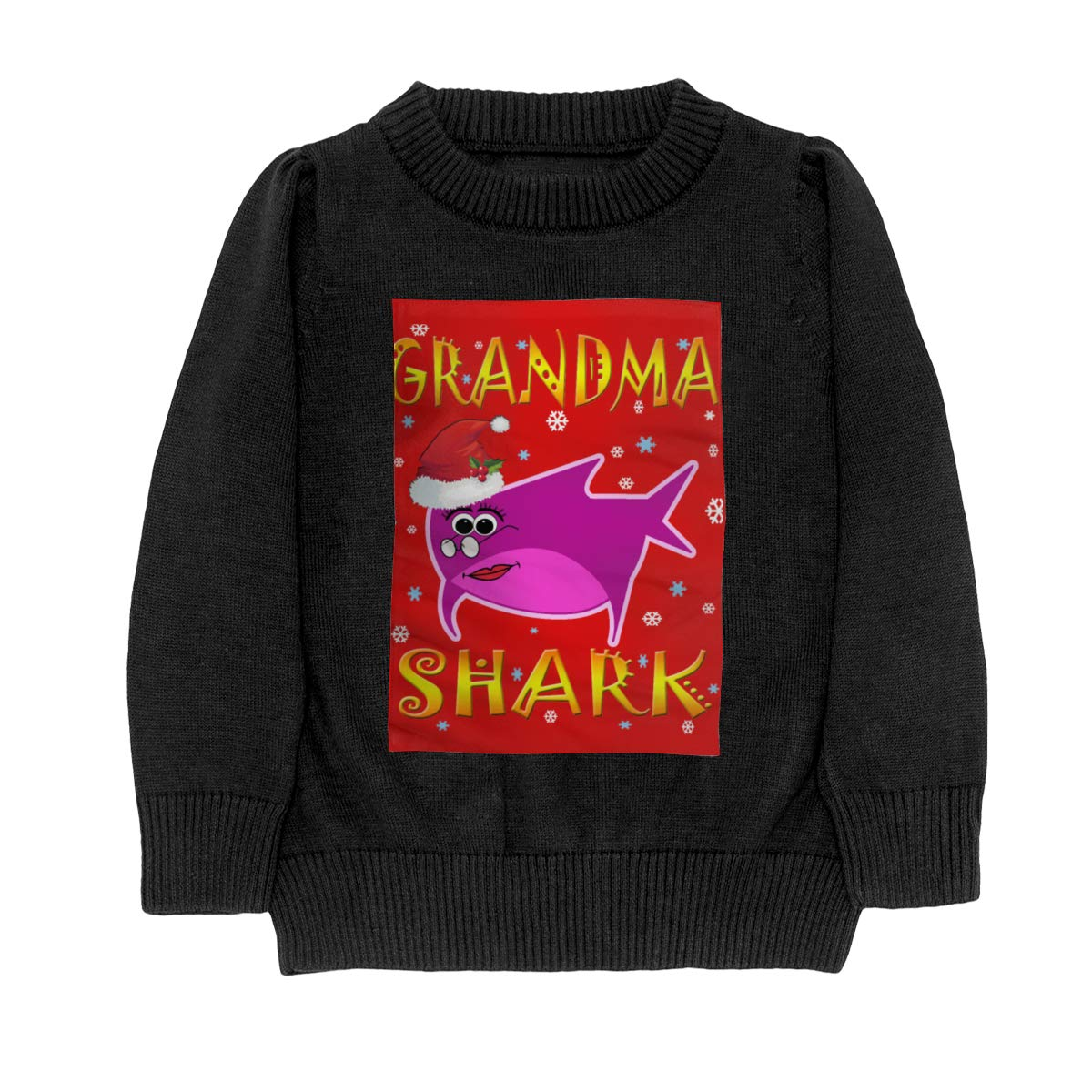 Grandma Shark Knit Sweater Pullover for Youth Girls