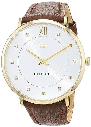 Tommy Hilfiger Reloj Análogo clásico para Mujer de Automático con Correa en Cuero 1781809: Amazon.es: Relojes