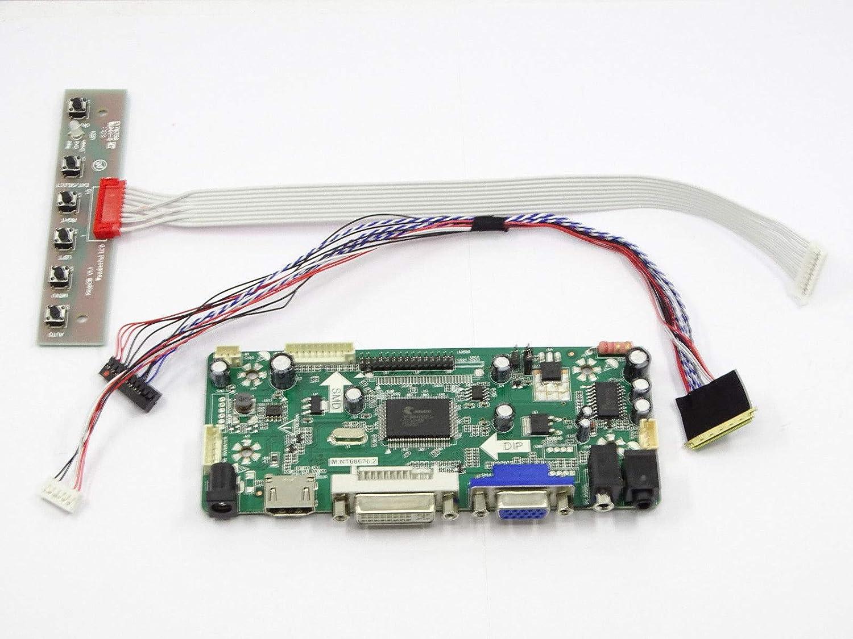 HDMI+DVI+VGA LCD Converter Lvds Driver Board Diy Kit for N140BGE-L12 1366x768