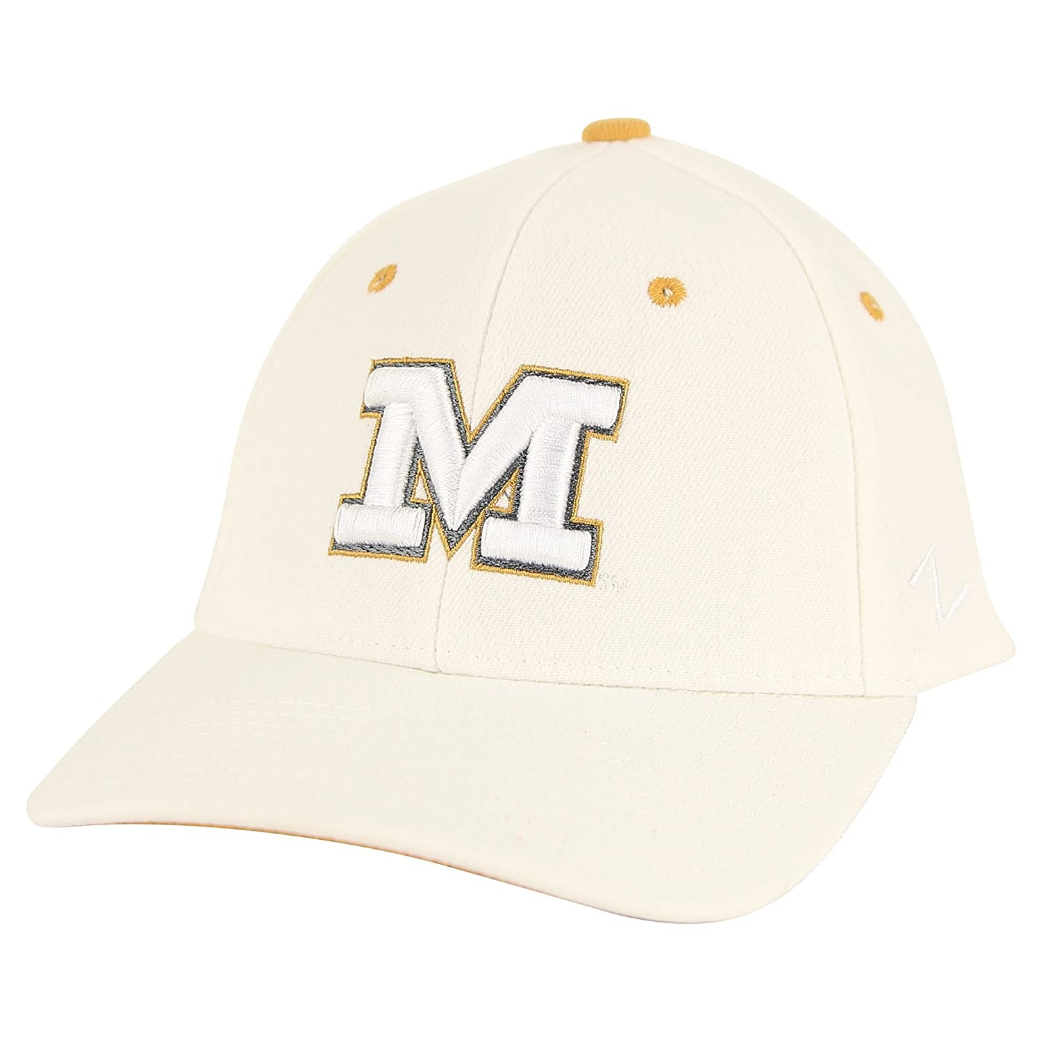 Zephyr NCAA White-Out Fitted Hat Missouri Tigers, Medium//Large