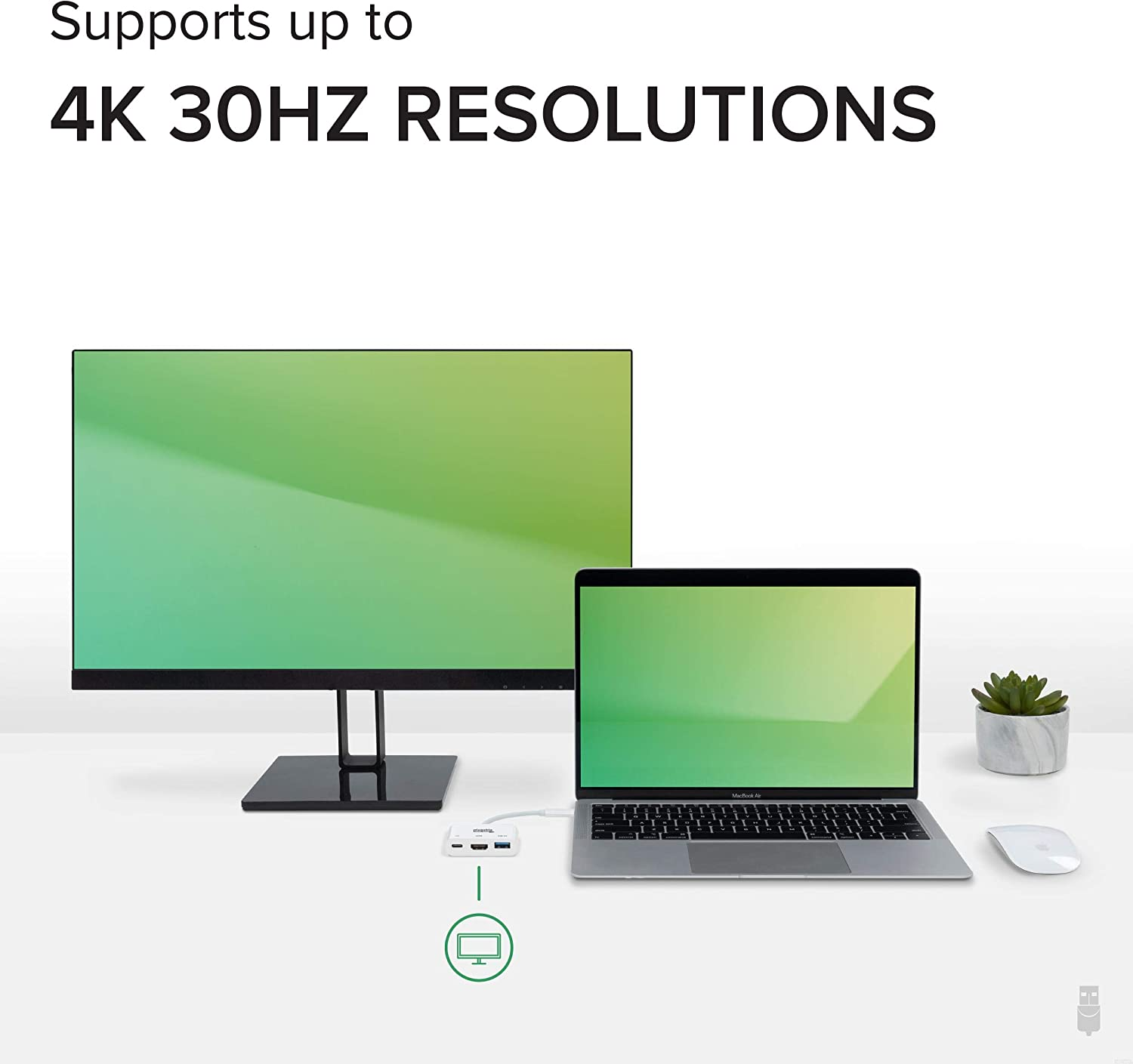 Supports Resolutions up to 4K@30Hz Thunderbolt 3 and More Plugable ...